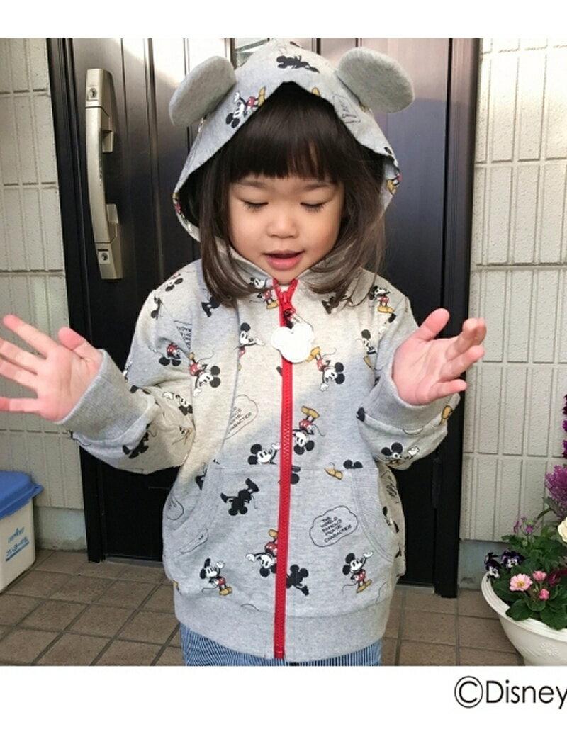【SALE/60%OFF】HusHusH(Kids) 耳付きフード裏毛パーカー(ディズニー) ハッシュアッシュ カットソー【RBA_S】【RBA_E】
