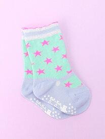 fafa (K)MISHA_BABY_SOCKS フェフェ マタニティー/ベビー ベビー用品 グリーン ピンク