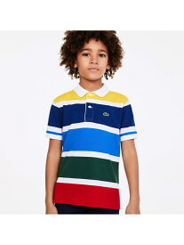 【SALE/30%OFF】LACOSTE BOYSマルチカラーボーダーポロシャツ ラコステ カットソー ポロシャツ【RBA_E】【送料無料】