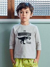 【SALE/40%OFF】恐竜プリント 7スリーブTシャツ ユナイテッドアローズ グリーンレーベルリラクシング カットソー【RBA_S】【RBA_E】