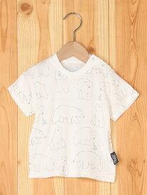 しろくま柄冷感babyTシャツ ジェラートピケ カットソー