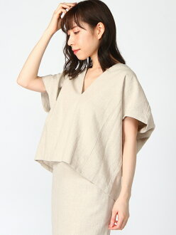 DOUDOU deep V blouse pal group outlet shirt / blouse