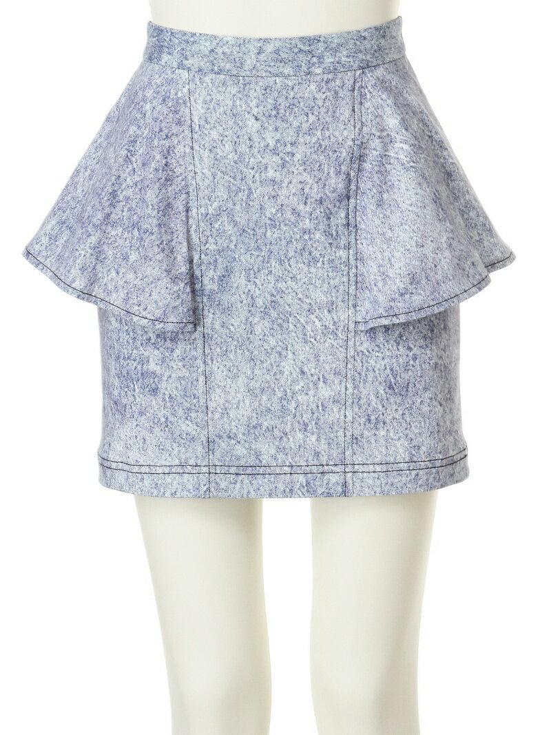 AULA AILA ケミカルプリントペプラムスカート スペシャル セール スカート【RBA_S】
