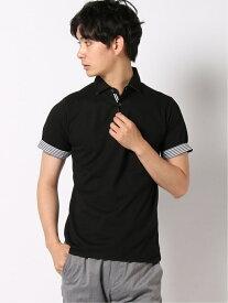 【SALE/50%OFF】BEAMS HEART BEAMS HEART / ワイドカラーポロシャツ COOLMAX(R) ビームス ハート カットソー ポロシャツ ブラック ネイビー ブルー ホワイト