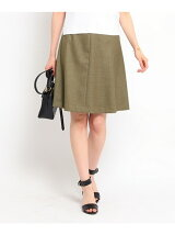 (洗える)ドビー台形スカート