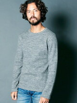 CTN/WOOL REVER  BRUSHED C/N L/S
