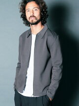 COMPACT DOUBLE TUCK STITCH ZIP CUT BLOUSON