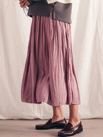 MAYSON GREY 【socolla】消しプリーツスカート メイソングレイ スカート スカートその他 パープル ブラック ブラウン ベージュ レッド グレー【送料無料】
