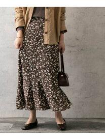 【SALE/30%OFF】ROSSO autumnflowerprintskirt アーバンリサーチロッソ スカート スカートその他 ブラウン ブラック【送料無料】