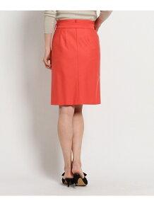 【洗える】ベルテッドラップ風スカート