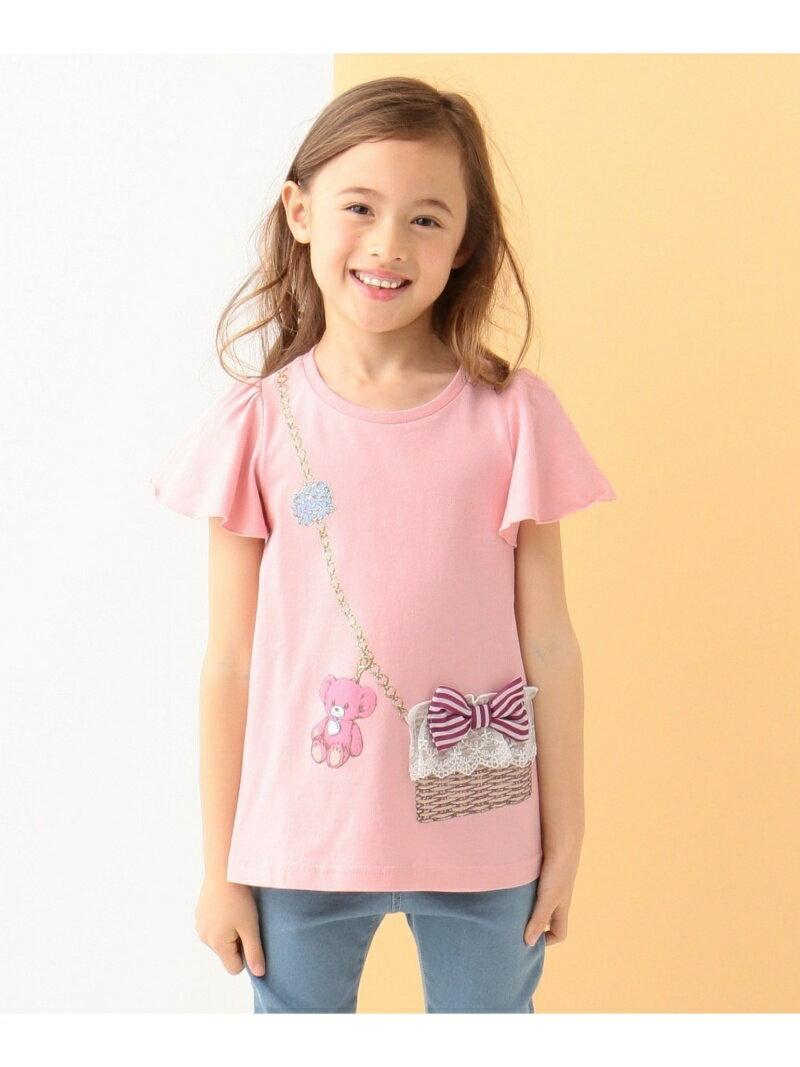 any FAM KIDS 【KIDS】かごバッグプリント 40/2天竺 Tシャツ エニィファム カットソー
