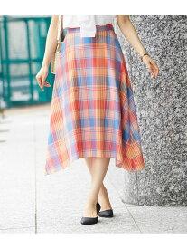 【SALE/63%OFF】ROPE' マドラスチェックフレアスカート ロペ スカート スカートその他 ピンク グリーン【送料無料】