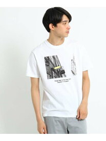 【SALE/40%OFF】THE SHOP TK プリント×カラー刺しゅうTシャツ ザ ショップ ティーケー カットソー Tシャツ ホワイト ベージュ