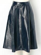Wrinklesエナメル フレアスカート