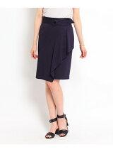 ドレープディテールタイトスカート