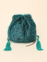 FLUFFY 2WAY POUCH BLUE