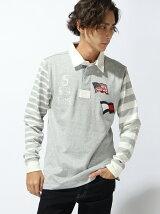 (M)Hilfiger Denim/ロングスリーブラグビーシャツ