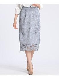【SALE/70%OFF】CLEAR IMPRESSION スカラップレースタイトスカート クリアインプレッション スカート タイトスカート ブルー ホワイト