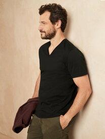【SALE/10%OFF】BANANA REPUBLIC (M)オーセンティック スーピマ(R)コットンVネックTシャツ バナナ・リパブリック カットソー Tシャツ ブラック グレー ホワイト ネイビー