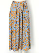 Winter Artフラワー マキシスカート