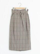 レトログレンチェックタイトスカート