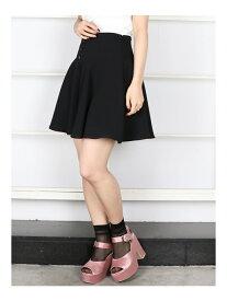 【SALE/56%OFF】dazzlin まえボタンミニフレアスカート ダズリン スカート フレアスカート ブラック レッド ベージュ