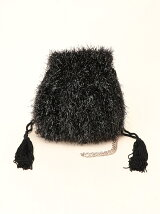 FLUFFY 2WAY POUCH BLACK