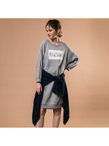 クルーネックドレス NATALIE CREW SMOKESTACK HEATHER