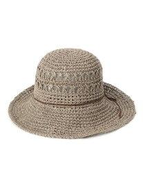 【SALE/65%OFF】SHOO・LA・RUE レザー調紐デザインハット シューラルー 帽子/ヘア小物 ハット グレー ブラック ブラウン