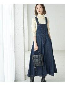 【SALE/10%OFF】ROPE' PICNIC 【WEB限定】デニムジャンパースカート ロペピクニック スカート ジャンパースカート ネイビー ブラック【送料無料】