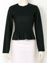 HEAVY MELTON Peplum Top
