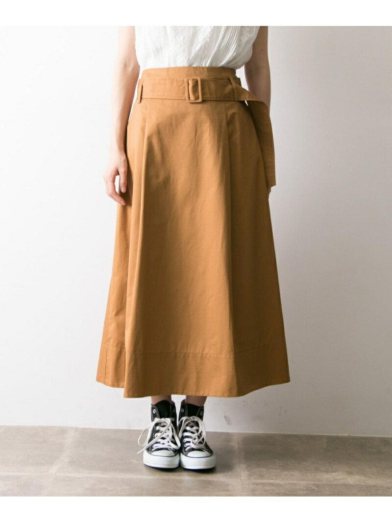 【SALE/40%OFF】ベルト付カラーフレアスカート アーバンリサーチ スカート【RBA_S】【RBA_E】【送料無料】