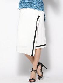 【SALE/70%OFF】Viaggio Blu 変形ラップスカート ビアッジョブルー スカート スカートその他 ホワイト オレンジ【送料無料】