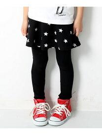 devirock プリント10分丈スカッツ 女の子 ベビー ボトムス スカート デビロックストア 子供服 キッズ デビロック スカート フレアスカート ネイビー ブラック