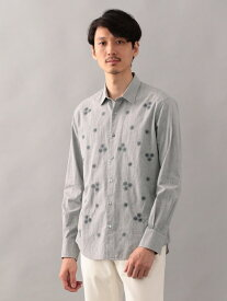 【SALE/65%OFF】EPOCA THE SHOP 刺繍シャツ エポカ ザ ショップ シャツ/ブラウス 長袖シャツ グレー ネイビー【送料無料】
