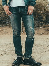 BORN FREE GARAGE CRASH STRETCH JAPANEASE SELVEDGE DENIM SLIM JEANS