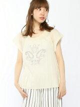 綿ローンモチーフ刺繍スモックBL