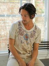 ムラ染 Native Necklace Print Tシャツ