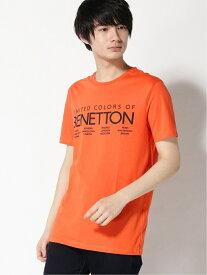 【SALE/83%OFF】BENETTON (UNITED COLORS OF BENETTON) (M)ロゴTシャツ・カットソー ベネトン(ユナイテッド カラーズ オブ ベネトン) カットソー Tシャツ オレンジ グリーン パープル ブラック ブルー ホワイト レッド