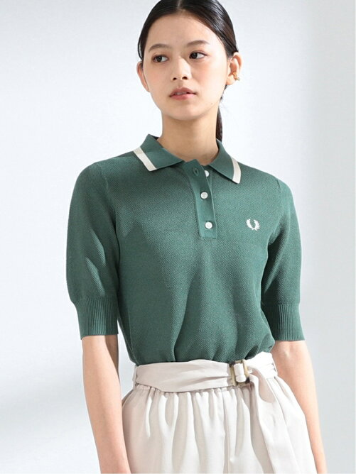 FRED PERRY × Ray BEAMS / 別注 ニット ポロシャツ