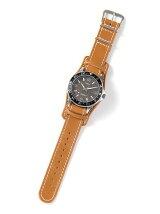 【国内正規品】crampオリジナルレザーベルト台座付き時計 カレイドスコープ ブラック