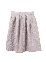 花柄ジャガードタック入りスカート