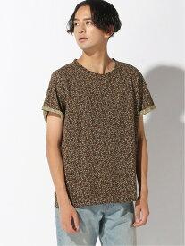 【SALE/79%OFF】BENETTON (UNITED COLORS OF BENETTON) (M)総柄Tシャツ・カットソー ベネトン(ユナイテッド カラーズ オブ ベネトン) カットソー Tシャツ ブラウン ブルー