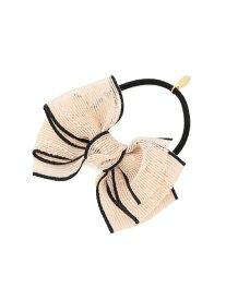 【SALE/20%OFF】ROPE' PICNIC PASSAGE パイピングリボンポニーヘアゴム ロペピクニック 帽子/ヘア小物 ヘアゴム ホワイト ネイビー