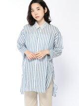 シャーリングチュニックシャツ