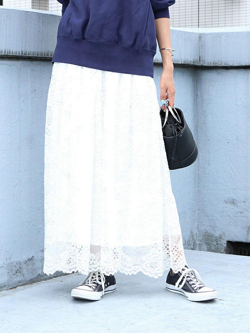 UNGRID [La]スカラップレーススカート アングリッド【送料無料】