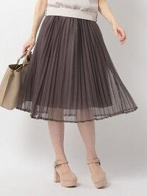 【SALE/69%OFF】MISCH MASCH オーガンジープリーツミモレスカート ミッシュ マッシュ スカート フレアスカート ブラウン グレー ピンク