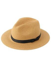 【SALE/50%OFF】SHOO・LA・RUE リボン使いペーパー中折れハット シューラルー 帽子/ヘア小物 ハット ブラウン ベージュ