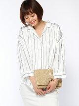【Dukkah】(L)サテン開襟7分袖シャツ
