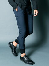 LANATEC POLYESTER TWILL TAPERED RIB PANTS